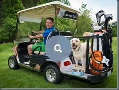 Dog golf dog-friendly cart