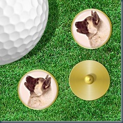 Dog golf markers