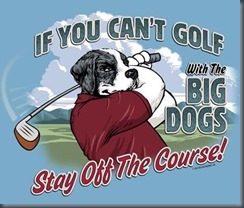 Dog golf tshirt