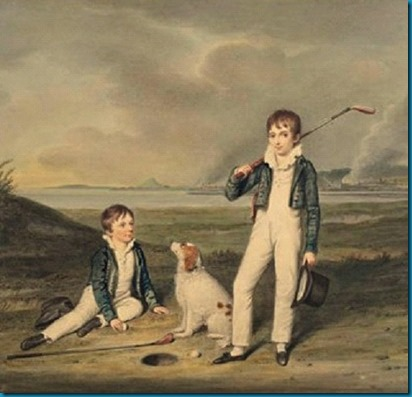 Vintage dog golf